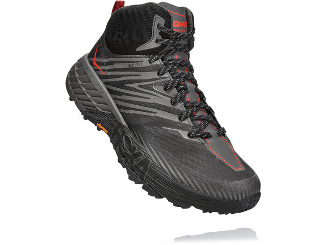 Hoka One One Speedgoat 2 GTX Botas Medias Hombre, anthracite/dark gull grey